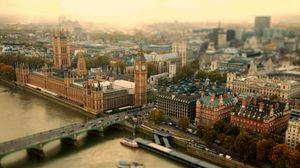 Превью обои лондон, великобритания, город, тауэрский мост, мост