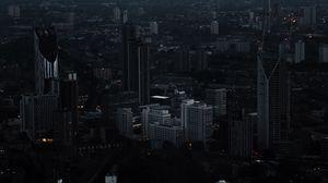 Превью обои лондон, великобритания, ночной город, небоскребы