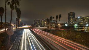 Превью обои лос-анджелес, город, америка, калифорния, сша, дорога