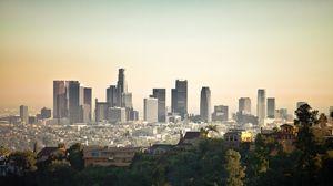 Превью обои лос-анджелес, лагуна-бич, здания, небоскребы