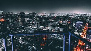 Превью обои лос-анджелес, сша, ночной город, здания