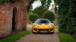 Превью обои lotus, evora, желтый, вид спереди