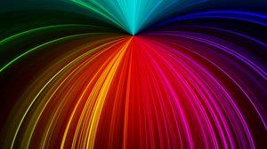 Превью обои лучи, блеск, разноцветный, линии