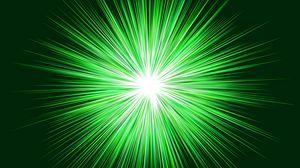 Превью обои лучи, блеск, зеленый, яркий