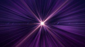 Превью обои лучи, свечение, свет, фиолетовый