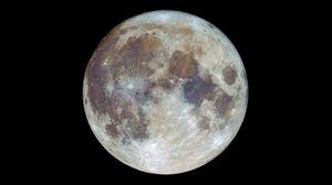 Превью обои луна, спутник, пятна, космос, темный