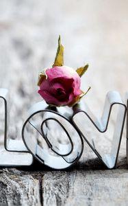 Превью обои любовь, металл, сердце