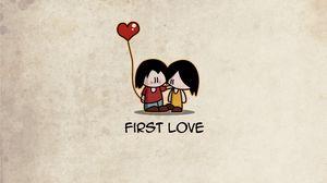 Превью обои любовь, пара, влюбленные, первый, шарик