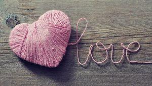 Превью обои любовь, сердце, нитки, романтика
