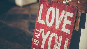 Превью обои любовь, табличка, надпись
