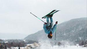 Превью обои лыжи, горные лыжи, спорт