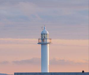Превью обои маяк, башня, белый, минимализм