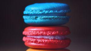 Превью обои макароны, десерт, пирожное, разноцветный