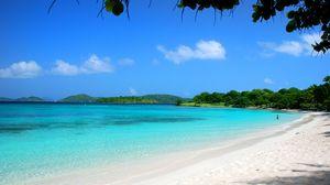 Превью обои мальдивы, тропики, пляж, песок, лето, пальмы