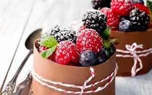 Превью обои малина, десерт, повязка, пудра, оформление