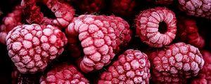 Превью обои малина, ягода, фрукт, замороженный