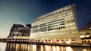 Превью обои манхэттен, нью-йорк, сша, здание, вода, берег, набережная