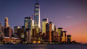 Превью обои манхэттен, нью-йорк, сша, небоскребы