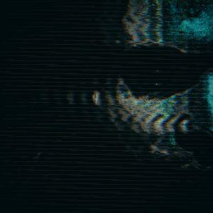 Превью обои маска, глитч, полосы, шум, темный, страшный