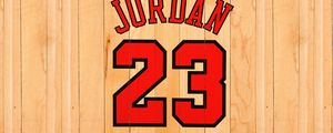 Превью обои майкл джордан, michael jordan, chicago bulls, номер, имя, nba, баскетбол, доски