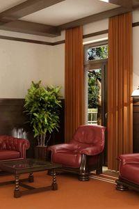 Превью обои мебель, комната, кабинет, кожаный, бордовый