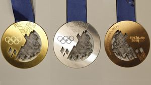 Превью обои медаль, медали, золото, серебро, бронза, олимпийские игры, сочи-2014, олимпиада