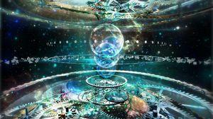 Превью обои механизм, формы, свет, воображение