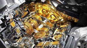 Превью обои механизм, золото, устройство, серебро, металл