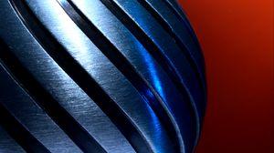 Превью обои металл, металлический, скручивание, спираль
