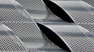 Превью обои металл, пластины, решетка, волнистый, текстура