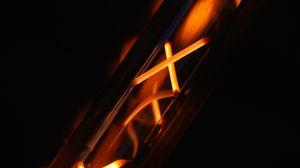 Превью обои металл, раскаленный, горячий, темный