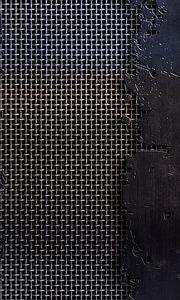 Превью обои металл, сетка, трещины, царапины, чб, текстура