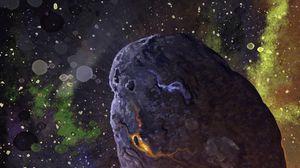 Превью обои метеорит, звезды, космос, арт