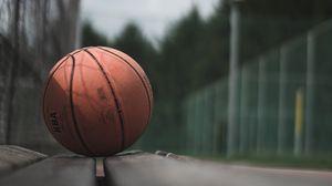 Превью обои мяч, баскетбол, лавочка, спорт, игра