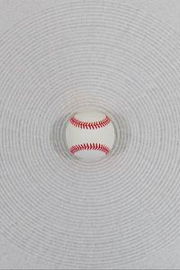 Превью обои мяч, бейсбол, белый, минимализм