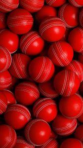 Превью обои мячи, красный, круглый, спорт