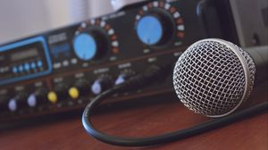 Превью обои микрофон, музыка, усилитель