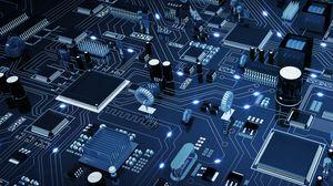 Превью обои микросхема, процессор, электроника, схема