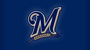 Превью обои milwaukee brewers, бейсбол, команда, логотип