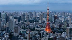 Превью обои минато, токио, небоскребы, здания