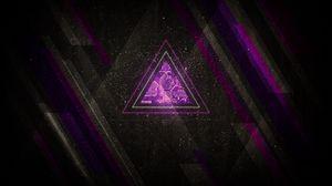 Превью обои минимализм, треугольник, линии, оттенки