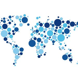 Превью обои мир, карта, круги, белый фон