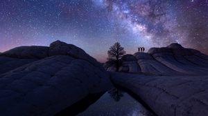 Превью обои млечный путь, небо, астрофотография
