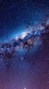 Превью обои млечный путь, звездное небо, звезды, космос, сияние, блеск