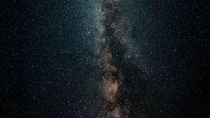 Превью обои млечный путь, звездное небо, звезды, темный, космос