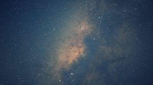 Превью обои млечный путь, звездное небо, звезды, космос, блеск
