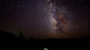 Превью обои млечный путь, звезды, ночь, небо, пейзаж, темный