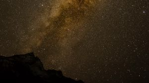 Превью обои млечный путь, звезды, звездное небо, ночь, темный