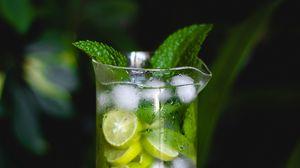 Превью обои мохито, напиток, лимон, мята, лед