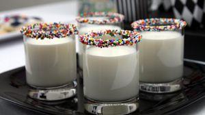 Превью обои молоко, сладкое, украшение, полезное